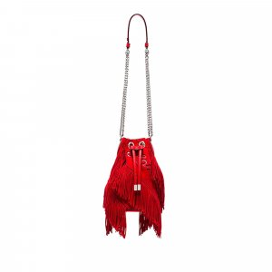 Christian Louboutin Marie Jane Chain Suede Bucket Bag
