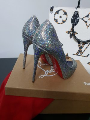 Christian Louboutin Party Glitzer Heels Pumps Peeptoes