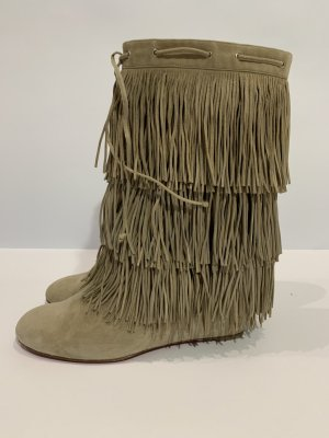 Christian Louboutin Platform Boots beige leather