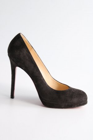 Christian Louboutin Plateau-Pumps schwarz Business-Look