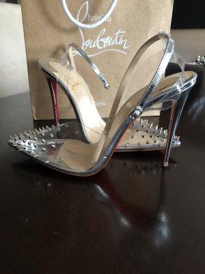 Christian Louboutin High Heels light grey leather