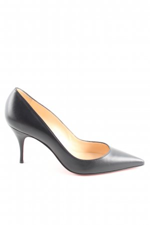 Christian Louboutin Spitz-Pumps schwarz-rot Business-Look