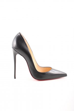 "Christian Louboutin Spitz-Pumps ""So Kate 120 Shiny Nappa Leather Black"""