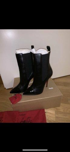 Christian Louboutin Slip-on Booties black leather