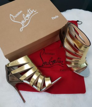 Christian Louboutin Strapped High-Heeled Sandals black-gold-colored