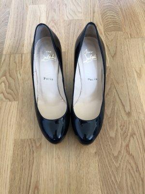 Christian Louboutin Zapatos de cuña negro-rojo oscuro