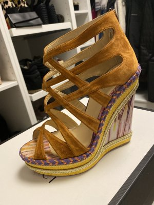Christian Louboutin Wedge Sandals multicolored