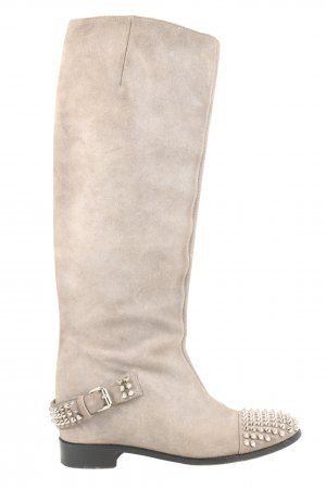 Christian Louboutin Wide Calf Boots light grey casual look