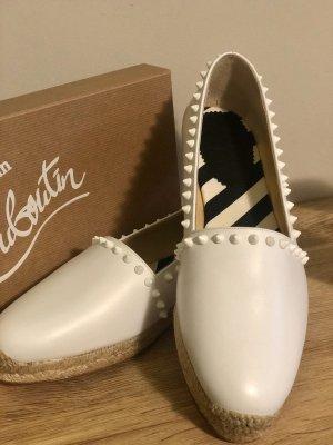 Christian Louboutin Espadrille Sandals white-beige leather