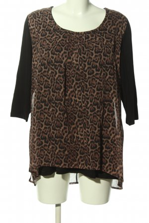 Christian MATERNE Long Blouse black-brown leopard pattern casual look