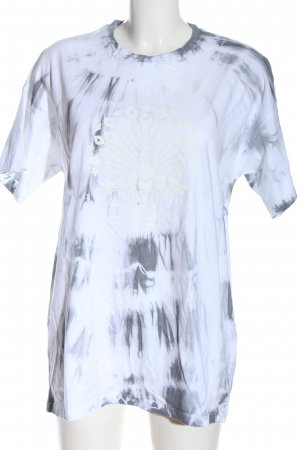 Christian Zen Oversized Shirt abstraktes Muster Casual-Look