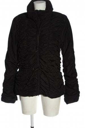 christina  gavioli Quilted Jacket black quilting pattern casual look