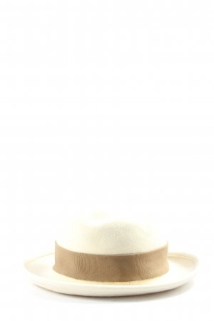 Christl Wagner Felt Hat natural white-brown casual look