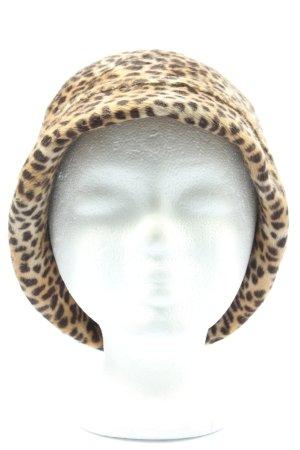 Christl Wagner Chapeau cloche blanc cassé-noir imprimé allover