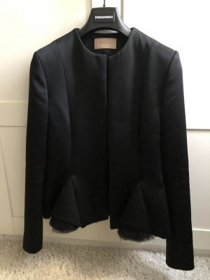 Christopher Kane - Black Tulle Accent Blazer - UK 10/XS-S