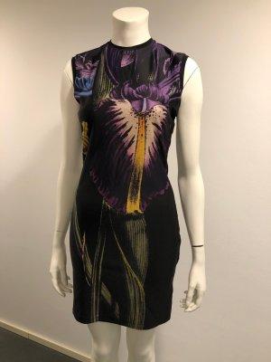 Christopher Kane Orchid-Print Satin Kleid