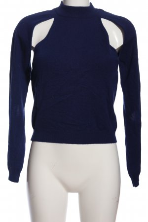 Christopher Kane Top cut out azul look casual