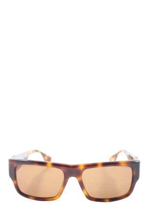 Chrome Hearts Occhiale da sole spigoloso marrone stile casual