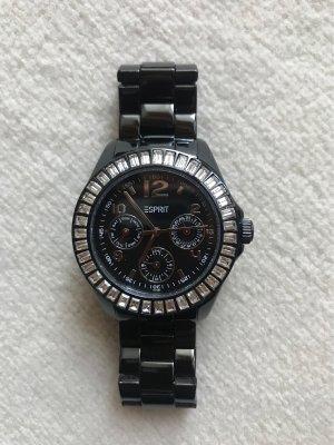 Esprit Horloge met metalen riempje zwart-zilver