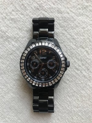 Esprit Watch With Metal Strap black-silver-colored