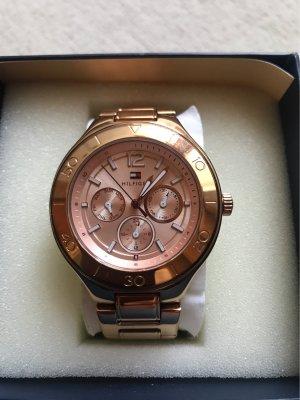 Tommy Hilfiger Horloge met metalen riempje roségoud