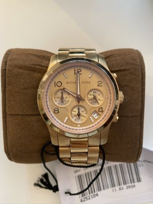 Michael Kors Watch With Metal Strap sand brown-beige