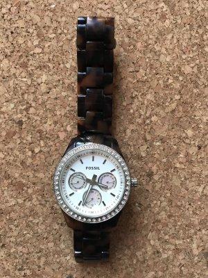 Fossil Zegarek automatyczny srebrny-brązowy
