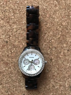 Fossil Self-Winding Watch silver-colored-brown