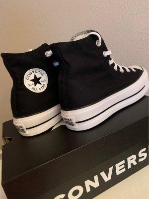 Converse Platform Trainers white-black