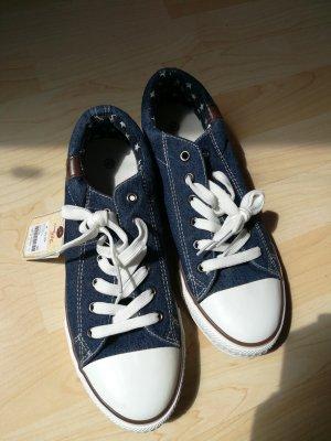 Jeans Fritz Scarpa stringata blu-blu scuro Tessuto misto