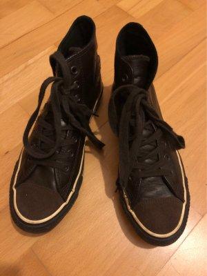 Chucks Converse, Gr.40, dunkelbraun , Glattleder