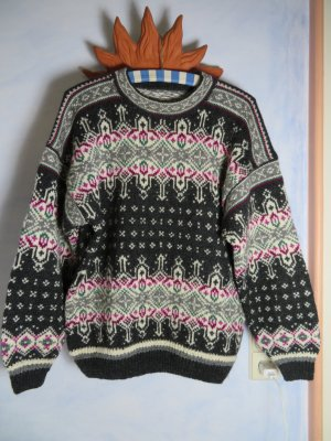Vintage Norwegian Sweater multicolored wool