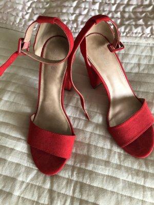Amisu Sandales à talons hauts et lanière rouge clair-rouge