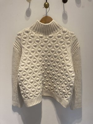 Zara Knitted Top natural white