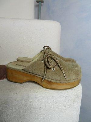 Spieth & Wensky Socque beige-brun sable cuir