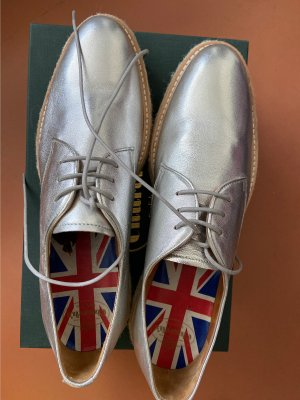 Church's Wingtip Shoes silver-colored leather