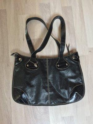 chwarze Croco Schultertasche, Handtasche von Esprit (NEUw.)
