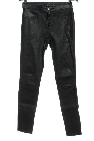 Cigno Nero Pantalone in pelle nero stile casual