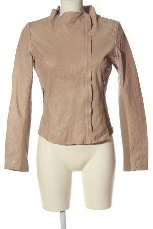 Cigno Nero Leather Jacket nude casual look
