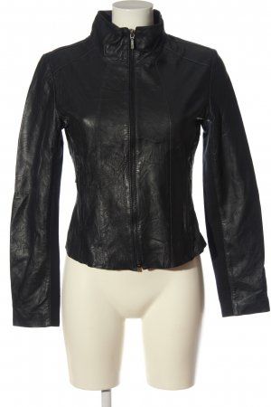 Cigno Nero Leather Jacket black casual look