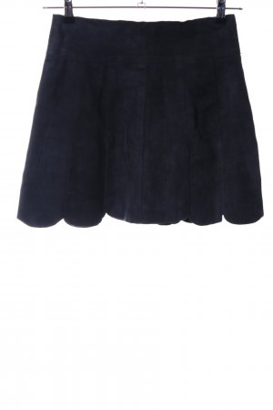Cigno Nero Leather Skirt blue casual look