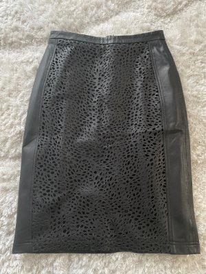 Cigno Nero Skórzana spódnica czarny