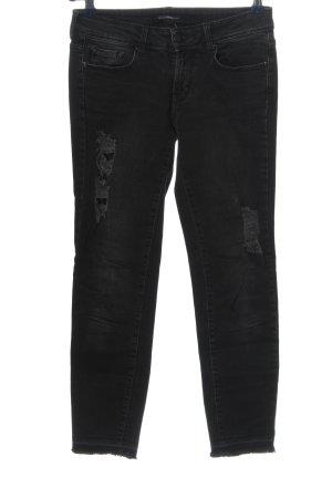 Cimarron Jeans a 7/8 nero stile casual