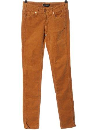 Cimarron Pantalone di velluto a coste arancione chiaro stile casual