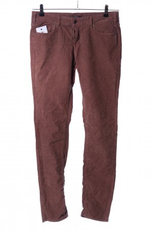 Cimarron Pantalone di velluto a coste marrone stile casual