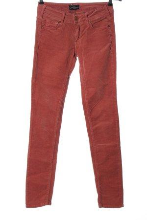 Cimarron Pantalone di velluto a coste rosso stile casual