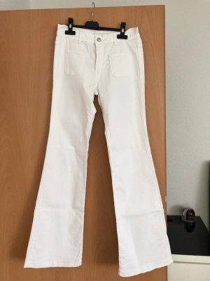 Cimarron Pantalone a zampa d'elefante bianco