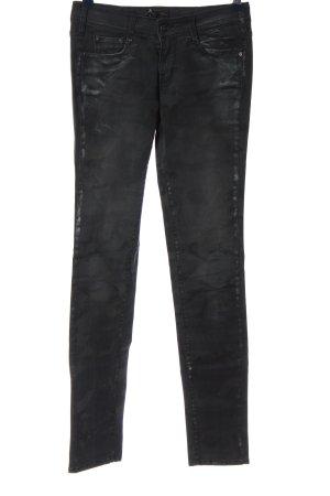 Cimarron Jeans a sigaretta nero-grigio chiaro motivo astratto stile casual