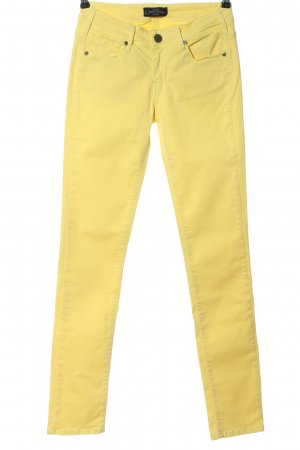 Cimarron Jeans a sigaretta giallo pallido stile casual