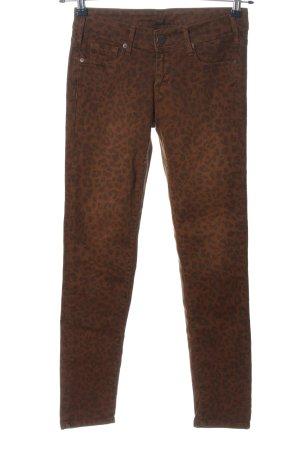 Cimarron Jeans a sigaretta marrone-nero stampa integrale stile casual